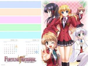 Rating: Safe Score: 8 Tags: bekkankou calendar fortune_arterial kuze_kiriha pantyhose sendou_erika tougi_shiro wallpaper yuuki_haruna yuuki_kanade User: admin2