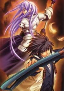 Rating: Safe Score: 6 Tags: armor aselia_bluespirit dress eien_no_aselia hitomaru sword takamine_yuuto xuse User: TBFGETTA