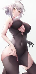 Rating: Questionable Score: 57 Tags: chinadress erect_nipples fate/grand_order jeanne_d'arc jeanne_d'arc_(alter)_(fate) kisaki_oni no_bra thighhighs User: Dreista
