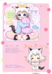 Rating: Safe Score: 6 Tags: animal_ears aoi_yun chibi pajama tail User: kiyoe