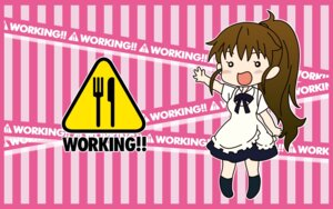 Rating: Safe Score: 8 Tags: chibi taneshima_poplar wallpaper working!! User: tack