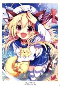 Rating: Safe Score: 54 Tags: akabane animal_ears k-books nekomimi seifuku tail thighhighs User: Twinsenzw
