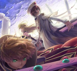 Rating: Safe Score: 8 Tags: c.c. code_geass kururugi_suzaku lelouch_lamperouge minami_(apricot_tea) User: yumichi-sama
