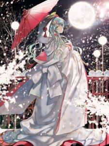 Rating: Safe Score: 53 Tags: hatsune_miku kimono starpri vocaloid yuki_miku User: dyj