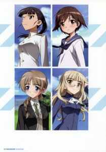 Rating: Safe Score: 6 Tags: eyepatch lynette_bishop megane miyafuji_yoshika perrine-h_clostermann sakamoto_mio strike_witches takamura_kazuhiro uniform User: Nepcoheart