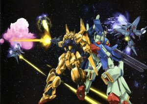 Rating: Safe Score: 7 Tags: gun gundam gundam_zz hyaku_shiki mecha zeta_gundam zz_gundam User: drop