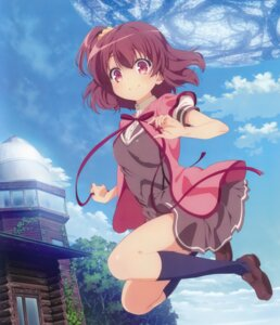 Rating: Safe Score: 57 Tags: akiya_yukie disc_cover komiya_nonoka seifuku sora_no_method User: fireattack