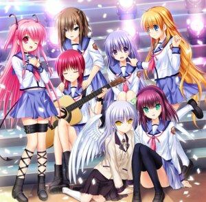 Rating: Safe Score: 18 Tags: angel_beats! disc_cover guitar hisako irie_(angel_beats!) iwasawa key na-ga seifuku sekine tenshi thighhighs wings yui_(angel_beats!) yurippe User: marechal