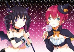 Rating: Safe Score: 23 Tags: amano_miu blend_s halloween horns nakayama_miyuki sakuranomiya_maika weapon User: kiyoe