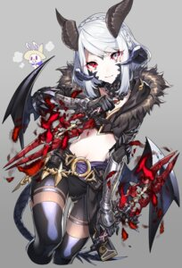 Rating: Safe Score: 17 Tags: armor au_ra bike_shorts final_fantasy final_fantasy_xiv garter horns tail thighhighs weapon westxost_(68monkey) wings User: Mr_GT