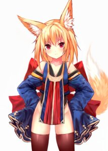 Rating: Safe Score: 50 Tags: animal_ears cleavage kitsune sukemyon thighhighs User: nphuongsun93