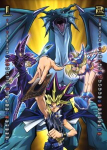 Rating: Safe Score: 12 Tags: armor calendar cleavage dark_magician dark_magician_girl horns monster wings yami_yuugi yugioh User: vistaspl