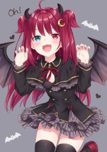 Rating: Safe Score: 40 Tags: cleavage heterochromia horns jimmy nijisanji thighhighs wings yuzuki_roa User: Mr_GT