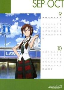 Rating: Safe Score: 11 Tags: calendar makinami_mari_illustrious megane nakayama_katsuichi neon_genesis_evangelion User: vkun