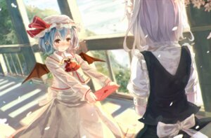 Rating: Safe Score: 27 Tags: bou_shaku izayoi_sakuya maid remilia_scarlet touhou wings yuri User: 23yAyuMe