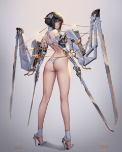 Rating: Questionable Score: 159 Tags: ass bikini_armor heels lovecacao mecha_musume sword thong User: Spidey