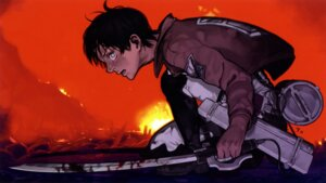 Rating: Safe Score: 6 Tags: eren_jaeger male shingeki_no_kyojin sword wallpaper User: blooregardo