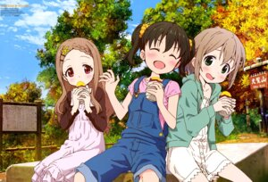 Rating: Safe Score: 15 Tags: aoba_kokona dress kuraue_hinata overalls yama_no_susume yokota_takumi yukimura_aoi User: drop
