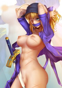 Rating: Explicit Score: 59 Tags: bearwitch bottomless breasts censored fate/grand_order fate/stay_night heroine_x nipples no_bra open_shirt pussy sword uncensored User: mash