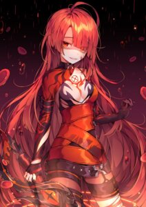 Rating: Questionable Score: 52 Tags: elesis elsword ha_youn no_bra pantyhose sword tattoo torn_clothes User: Nepcoheart