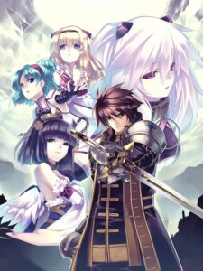 Rating: Safe Score: 18 Tags: agarest_senki agarest_senki_zero armor friedelinde hirano_katsuyuki mimel routier sayane sieghart sword wings User: Radioactive