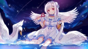 Rating: Safe Score: 77 Tags: azur_lane cleavage cygnet_(azur_lane) dress heels kazucha wet wings User: 乐观的食用盐