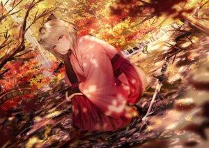Rating: Safe Score: 40 Tags: fate/grand_order heels japanese_clothes junpaku_karen sakura_saber sword wet User: BattlequeenYume