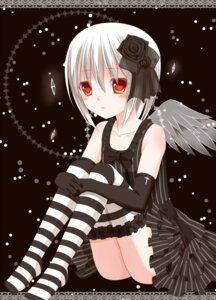 Rating: Safe Score: 26 Tags: dress ikeda_yuuki thighhighs wings User: ddns001