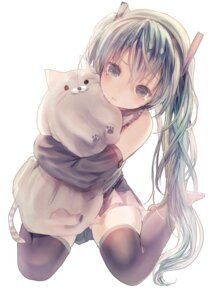 Rating: Safe Score: 70 Tags: hatsune_miku iijima_masashi thighhighs vocaloid User: LolitaJoy