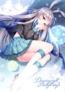 Rating: Questionable Score: 60 Tags: an2a animal_ears bunny_ears heels skirt_lift wind_mail User: sym455