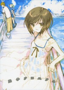 Rating: Safe Score: 5 Tags: dress nagata_tsubasa papercrown paper_texture summer_dress User: Radioactive