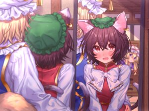 Rating: Safe Score: 12 Tags: animal_ears chen nekomimi tagme tail touhou yakumo_ran yakumo_yukari User: Mr_GT