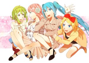 Rating: Safe Score: 7 Tags: gumi hatsune_miku kagamine_rin megurine_luka vocaloid yukariki User: animeprincess