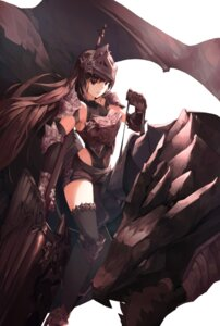 Rating: Safe Score: 21 Tags: armor heels monster munseonghwa thighhighs weapon User: BattlequeenYume