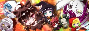Rating: Questionable Score: 11 Tags: adashino_benio animal_ears bandages chibi enmadou_rokuro halloween heterochromia sousei_no_onmyouji sukeno_yoshiaki tail witch User: AyanokoujiSama