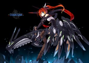Rating: Safe Score: 35 Tags: asahiage chainsaw mecha mecha_musume poco thighhighs User: fairyren