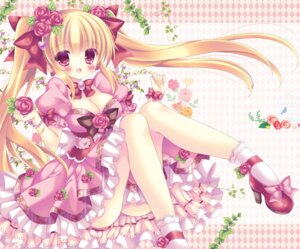 Rating: Safe Score: 49 Tags: cleavage dress garter heels kouta. User: KazukiNanako