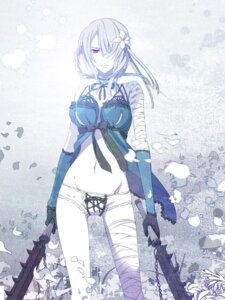 Rating: Questionable Score: 63 Tags: bandages kaine_(nier) nier pantsu yuuki_kira User: eney33