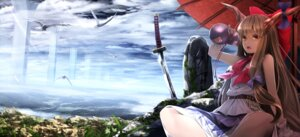 Rating: Safe Score: 62 Tags: horns ibuki_suika landscape ryosios sword touhou User: Mr_GT