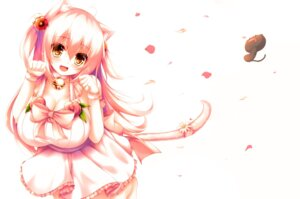 Rating: Safe Score: 55 Tags: animal_ears cleavage dress nekomimi syroh tail User: donicila