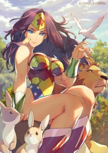 Rating: Safe Score: 36 Tags: armor cleavage dc_comics kotatsu_(g-rough) leotard signed wonder_woman User: mash