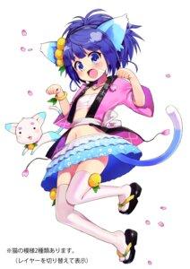 Rating: Safe Score: 27 Tags: animal_ears chiba_sadoru japanese_clothes neko nekomimi open_shirt sarashi sayuha tail thighhighs User: saemonnokami