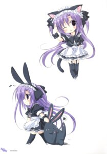 Rating: Questionable Score: 18 Tags: animal_ears bunny_ears chibi korie_riko maid stockings tail thighhighs User: fireattack