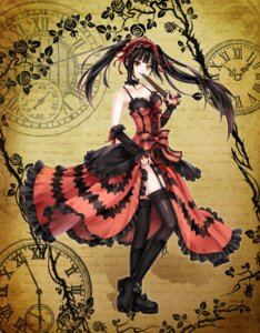 Rating: Safe Score: 89 Tags: date_a_live gothic_lolita gun heterochromia lolita_fashion monogo skirt_lift stockings thighhighs tokisaki_kurumi User: Radioactive