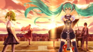 Rating: Safe Score: 25 Tags: 2d gumi hatsune_miku mayu_(vocaloid) thighhighs vocaloid User: Mr_GT