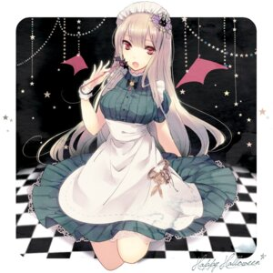 Rating: Safe Score: 22 Tags: aliasing halloween inko maid wings User: Nekotsúh