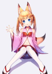Rating: Safe Score: 52 Tags: animal_ears kemomimi_vr_channel mikoko_(kemomimi_vr_channel) momoshiki_tsubaki pantsu tail thighhighs User: Mr_GT