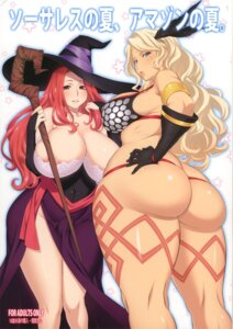 Rating: Questionable Score: 33 Tags: amazon areola ass bikini dragon's_crown marumiya no_bra sorceress swimsuits tattoo thong uno_makoto weapon witch User: blooregardo