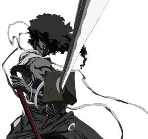 Rating: Safe Score: 4 Tags: afro_samurai male monochrome sword User: charunetra