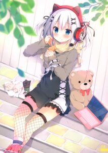 Rating: Safe Score: 35 Tags: animal_ears fishnets headphones izumi_yuhina nekomimi sweater thighhighs User: kiyoe